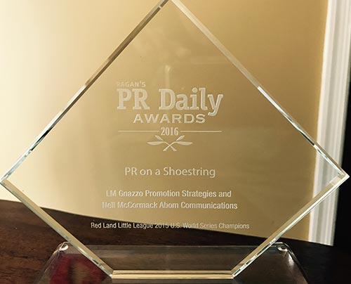 PR Daily 2016 PR on a Shoestring Award
